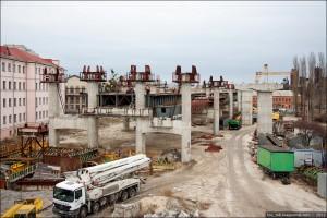 НПО «Мостовик» построил больше половины опор железнодорожной эстакады