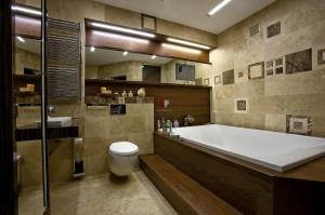 строгий интерьер ванной