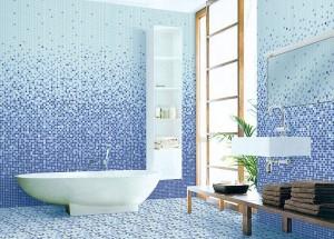 мозаичное оформление ванной