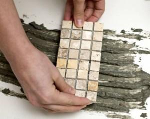 нанесение мозайки