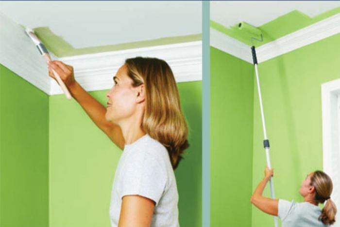 Покраска стен и потолка