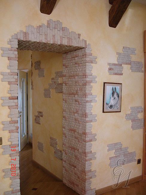 Декоративная отделка стен фото.