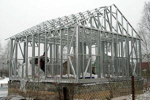 построение металлокаркаса дома фото