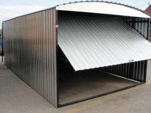 изготовление гаража из профнастила