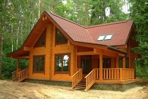 готовый дом из профилированного бруса фото