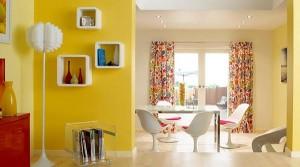 Частийчное применение желтого цвета  в интерьере