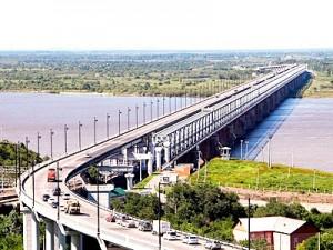 Строительство моста через Амур