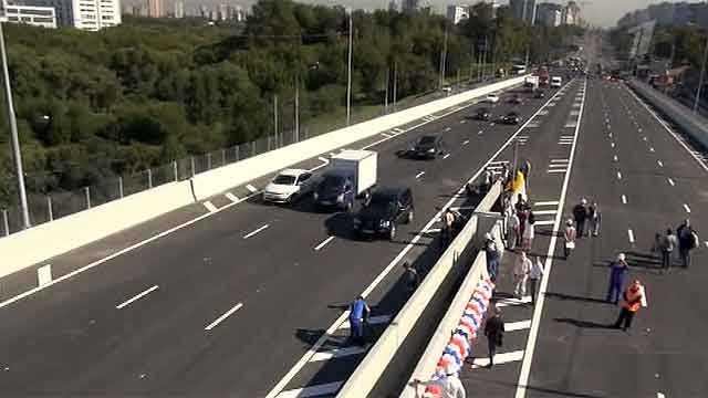 Новая транспортная развязка, постренная в Москве за рекордные сроки