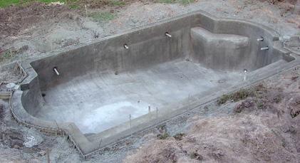 заливка стен бассейна