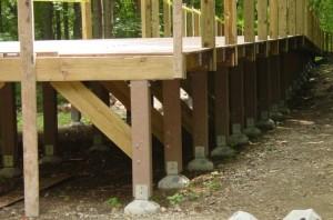 Деревянный столбчатый фундамент