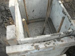 как залить столбчатый фундамент