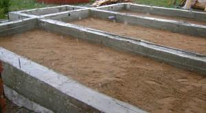 песчаный ленточный фундамент