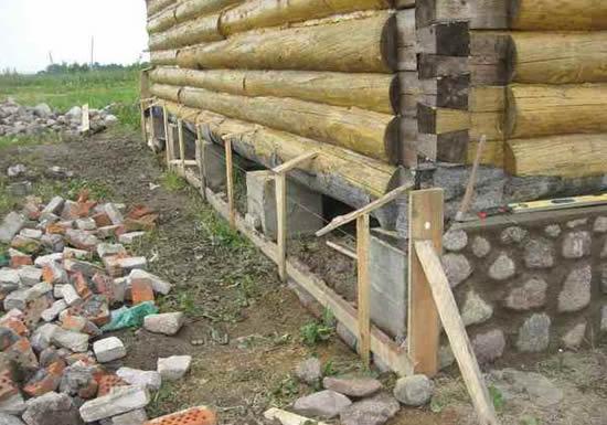 Столбчатый фундамент для дома и бани