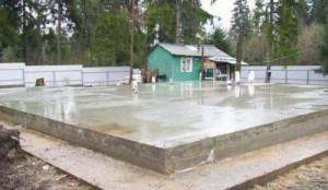 фундамент монолитная плита для дома