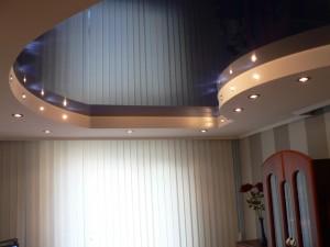 комбинированный потолок - натяжной с гипсокартоновыми вставками