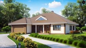 проект одноэтажного дома с ландшафтным дизайном