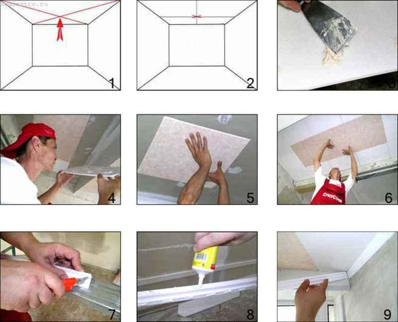 Как стелить потолок своими руками 73