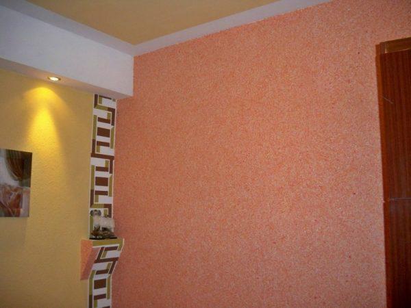 Поклейка жидких обоев для стен