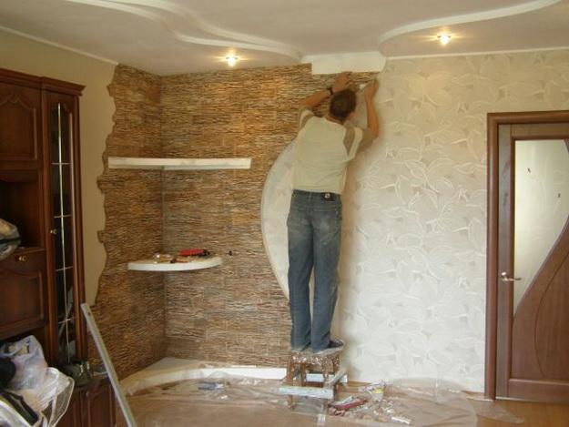 Декоративная отделка стен в квартире своими руками 100