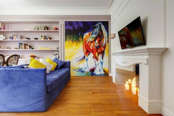 Стиль дизайна. Анимализм - «лошадиная» спальня