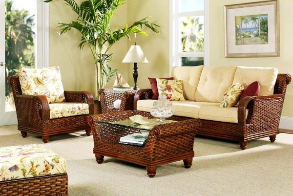 Преимущества плетеной мебели из ротанга
