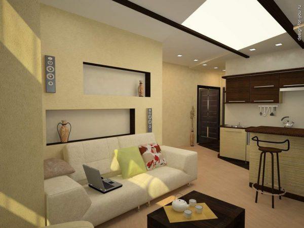 Что учесть при создании дизайна однокомнатной квартиры