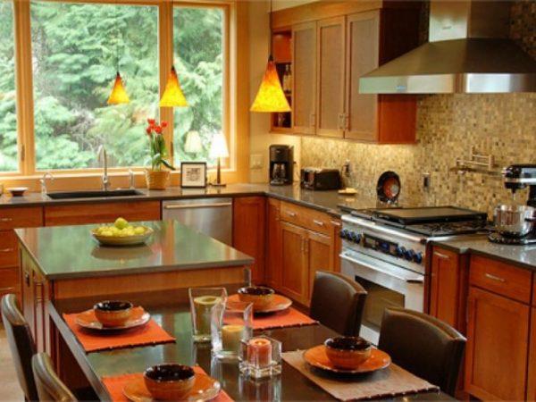Веяние осени в оформлении кухни