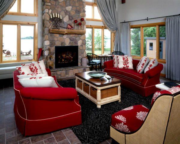 Центр комнаты – диван в интерьере