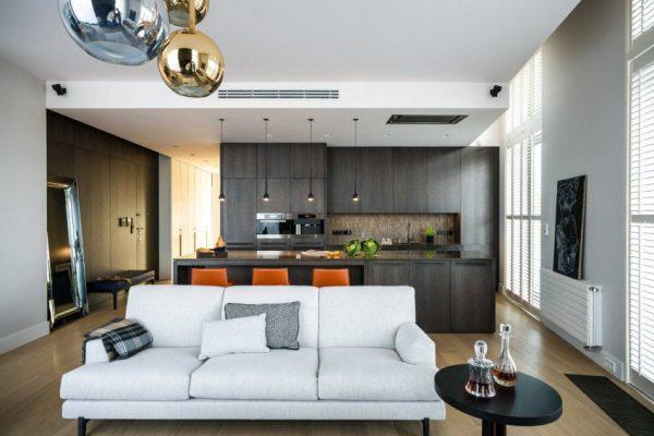 Хай-тек современный стиль в интерьере квартиры