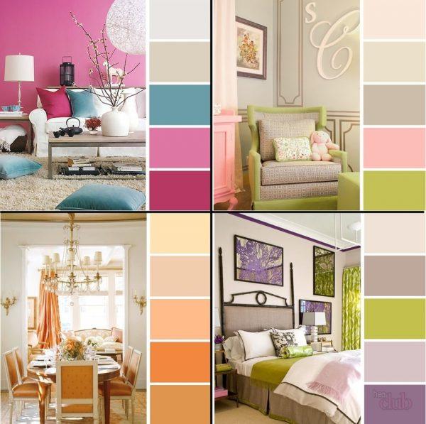 Интерьерные цветовые решения