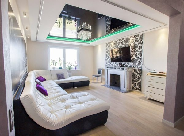 Многоуровневый потолок в дизайне интерьера