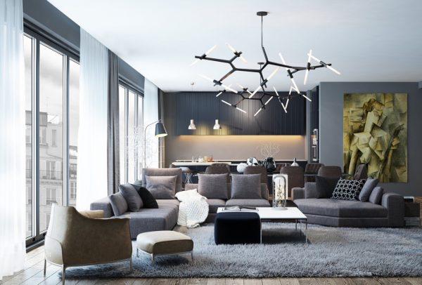 Современная гостиная – модные стили