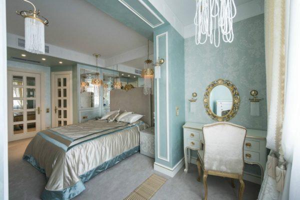Создание спальни из стиля Тиффани